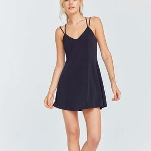 Urban Outfitters Strappy Black Low Back Mini Dress